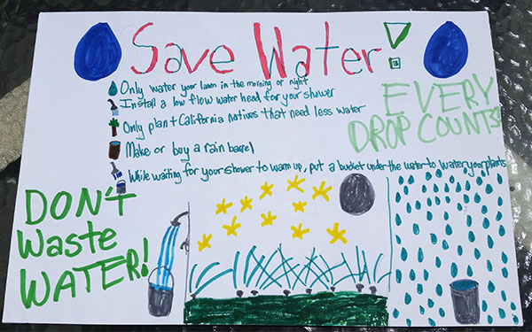 Save Water poster created by a student
