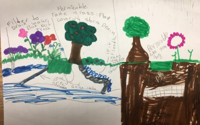Main Street Elementary Watershed Rangers Design Tools to Reduce Stormwater Runoff