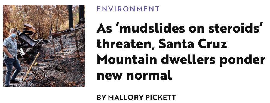 Lookout Santa Cruz Mudslides