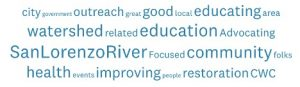 Word cloud donor survey results